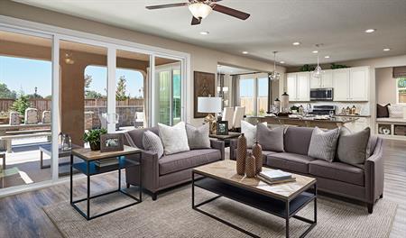 Great room in the Andrea floor plan