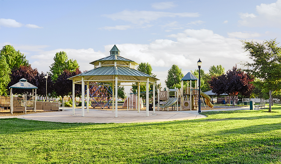 Community park in the Orchards Valley Glen community
