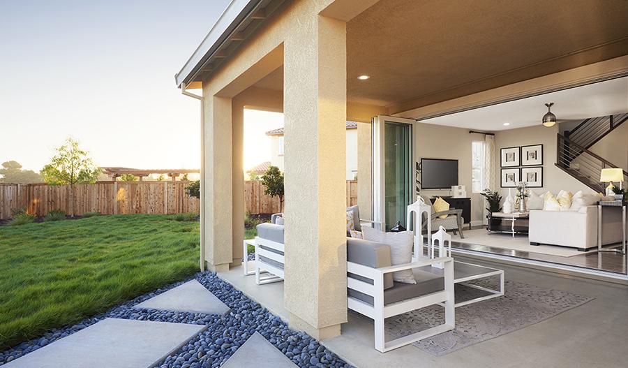 Outdoor patio in the Hemingway floor plan
