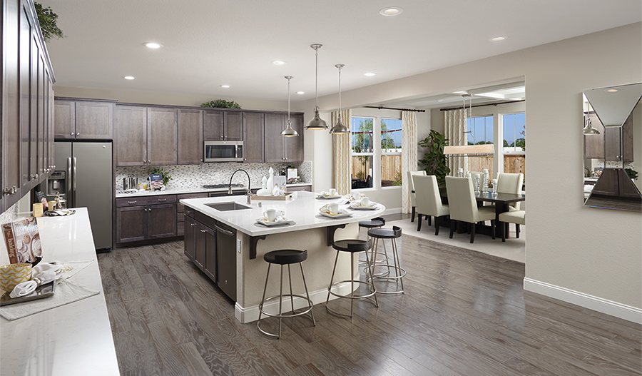 Kitchen with large center island in the Hemingway floor plan