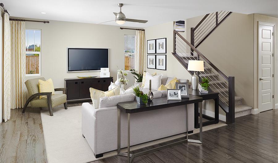 Living room in the Hemingway floor plan