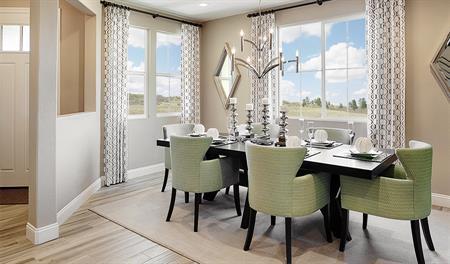 Dining room in the Seth floor plan
