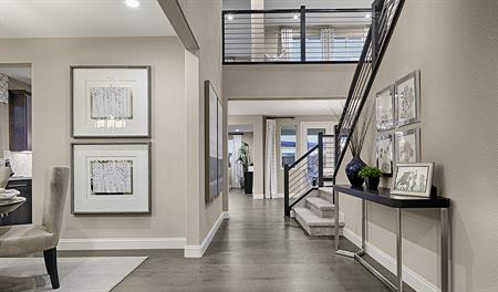 Entry way in the Caroline floor plan