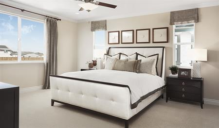 Master bedroom in the Thomas floor plan