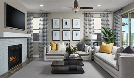 Family room of the Augusta floor plan