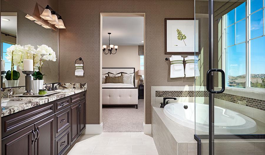 Master bathroom of the Seth floor plan