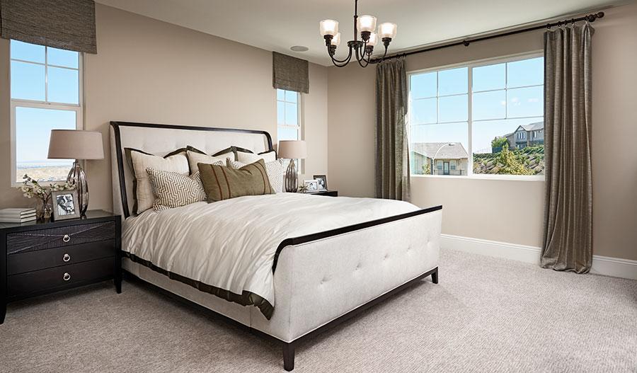 Master bedroom of the Seth floor plan