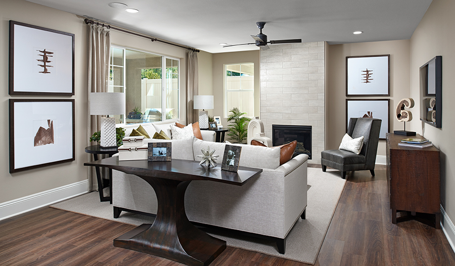 Family room of the Seth floor plan
