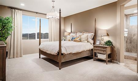 Master bedroom of the Sophie floor plan