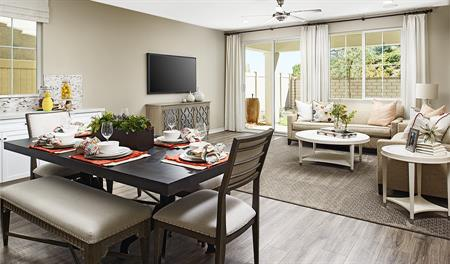 Family room of the Sophie floor plan