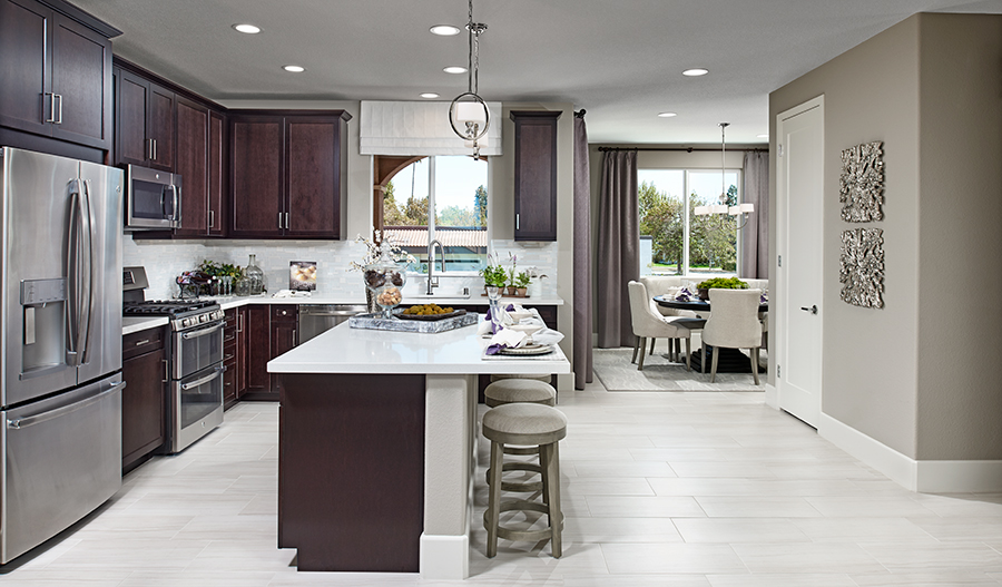 Kitchen of the Evette floor plan