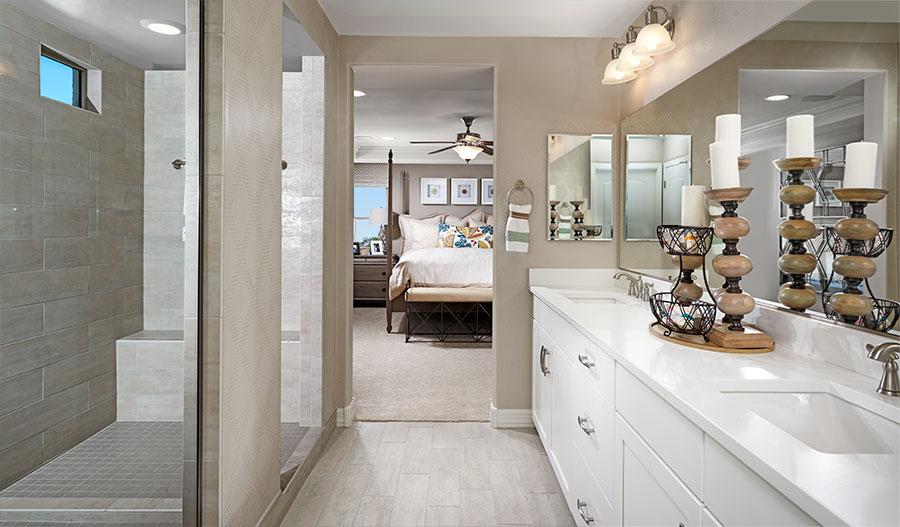 Master bathroom of the Coronado floor plan