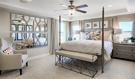 Master bedroom of the Coronado floor plan