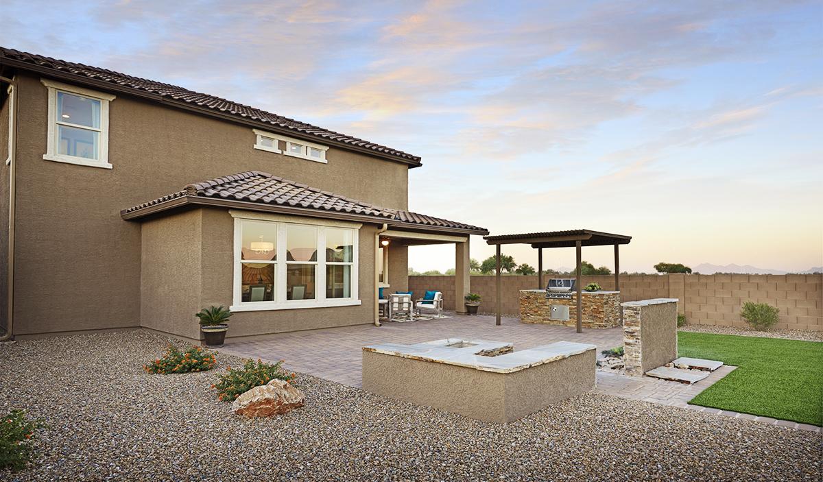 Back patio of the Coronado floor plan
