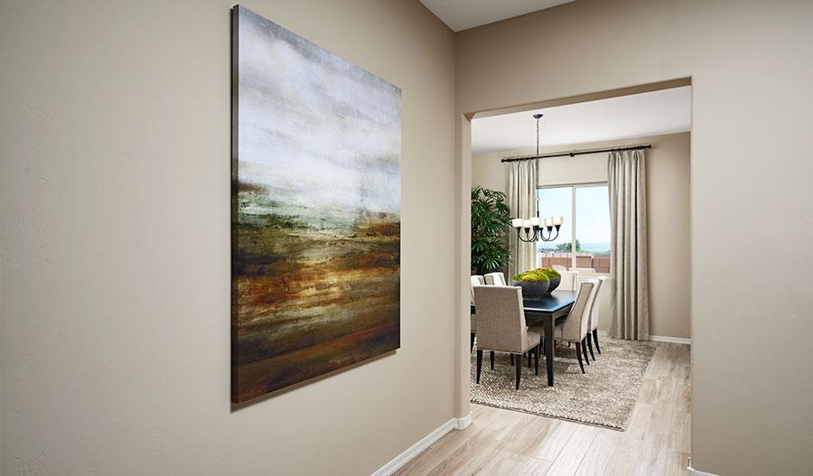 Dining room of the Delaney floor plan