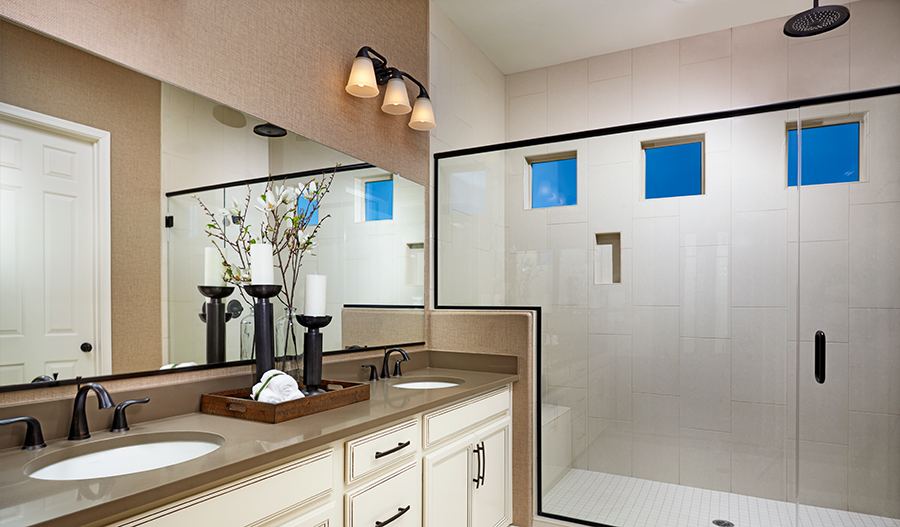 Master bathroom of the Delaney floor plan