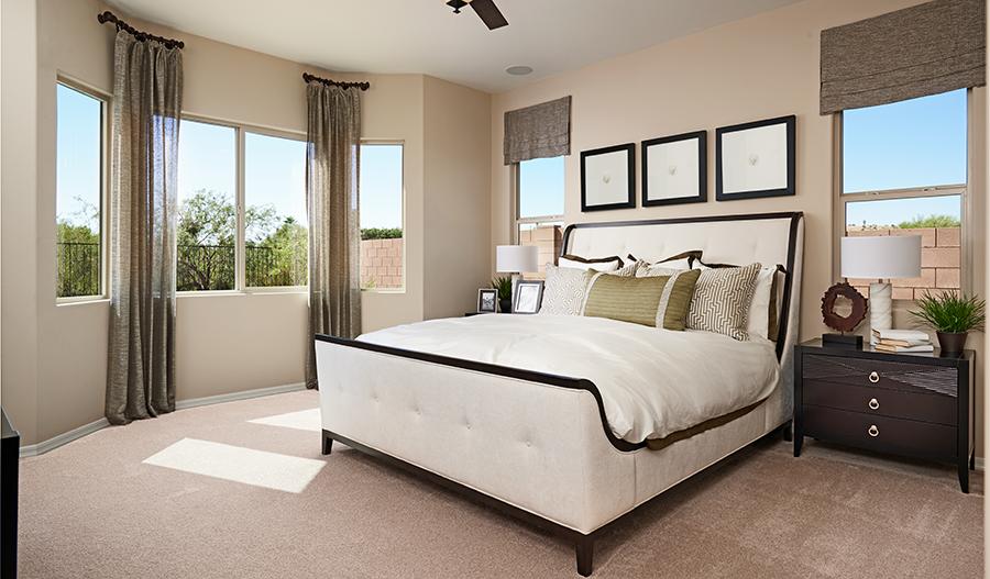 Master bedroom of the Delaney floor plan