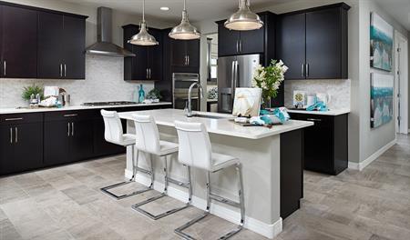 Kitchen of the Raleigh floor plan