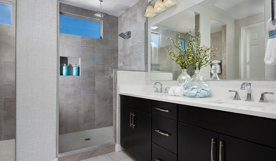 Master bathroom of the Raleigh floor plan