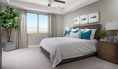 Master bedroom of the Raleigh floor plan