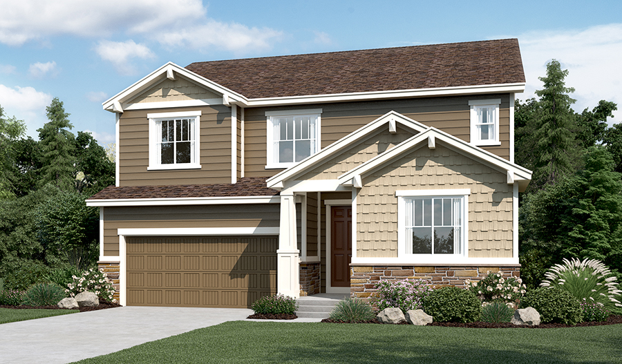Exterior B of the Hopewell floor plan