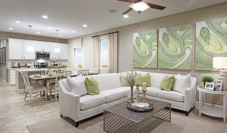 Great room of the Peridot floor plan