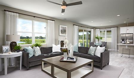 Great room of the Moonstone floor plan