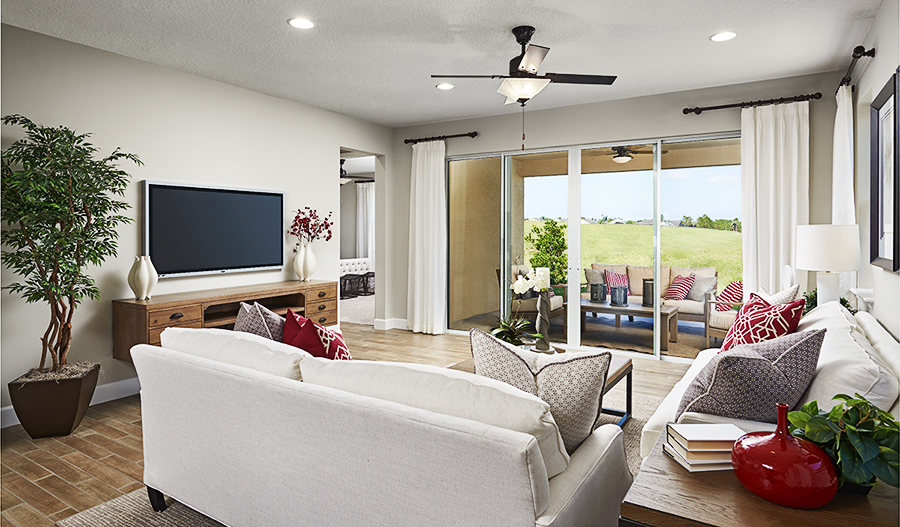 Family room of the Ruby floor plan