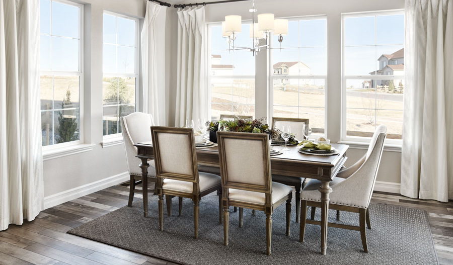 Dining room in Coronado floor plan