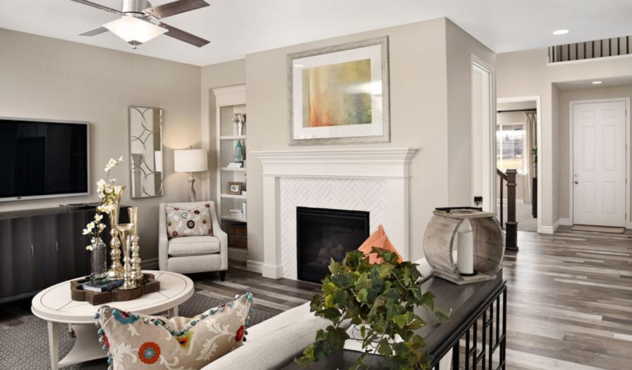 Great room in Coronado floor plan