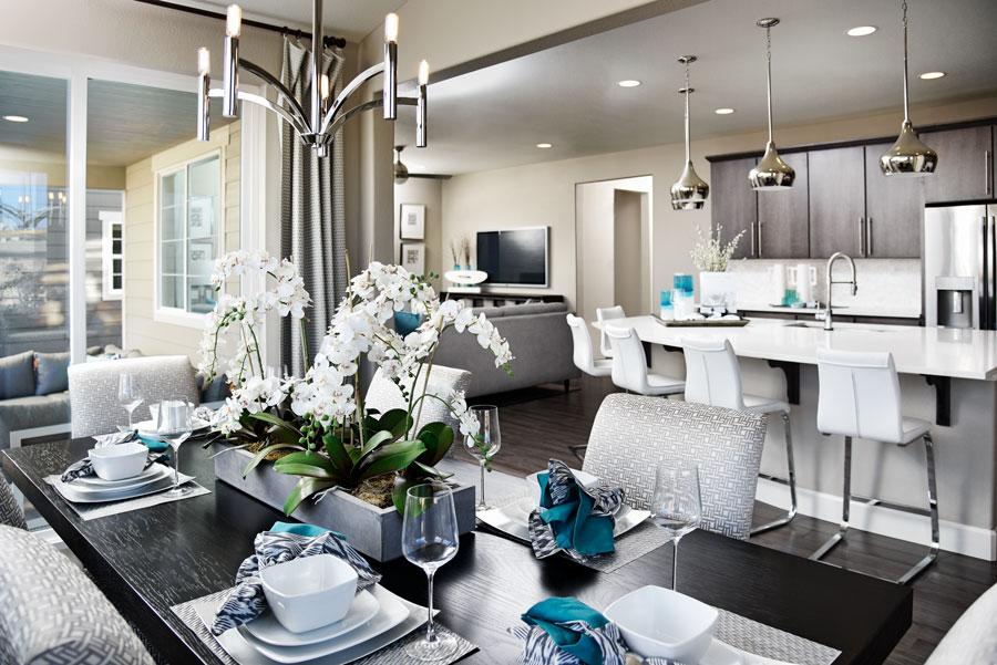 Dining room in Fallon floor plan