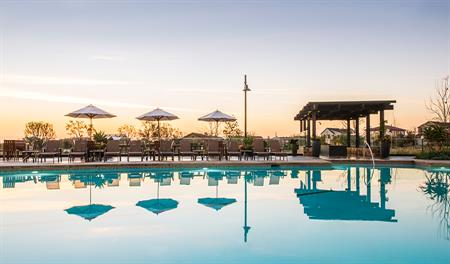 Community pool at Cabaletta at Cadence Park in Orange County
