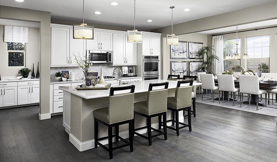 Kitchen and nook of the Coronado floor plan