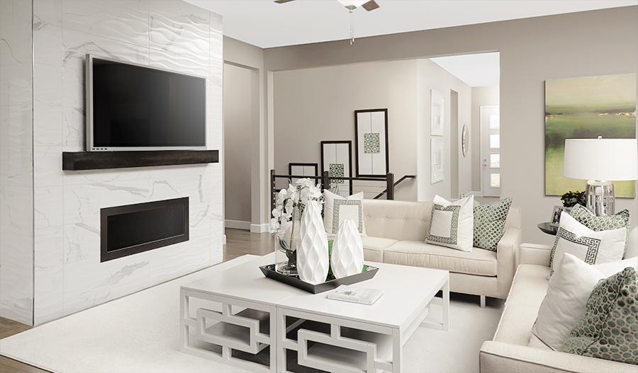 Family room of the Decker floor plan