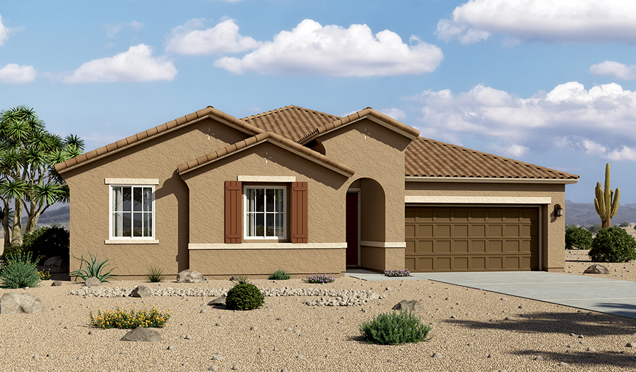Delaney floor plan exterior rendering A