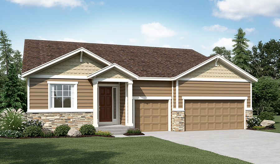 The Dearborn floorplan Exterior Elevation A