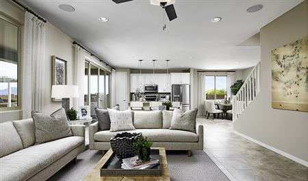 Great room of the Pearl floor plan
