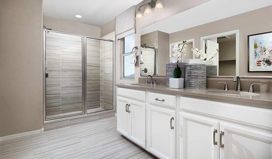 Master bathroom of the Pearl floor plan