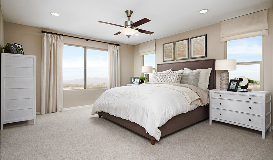 Owner's bedroom of the Pearl floor plan