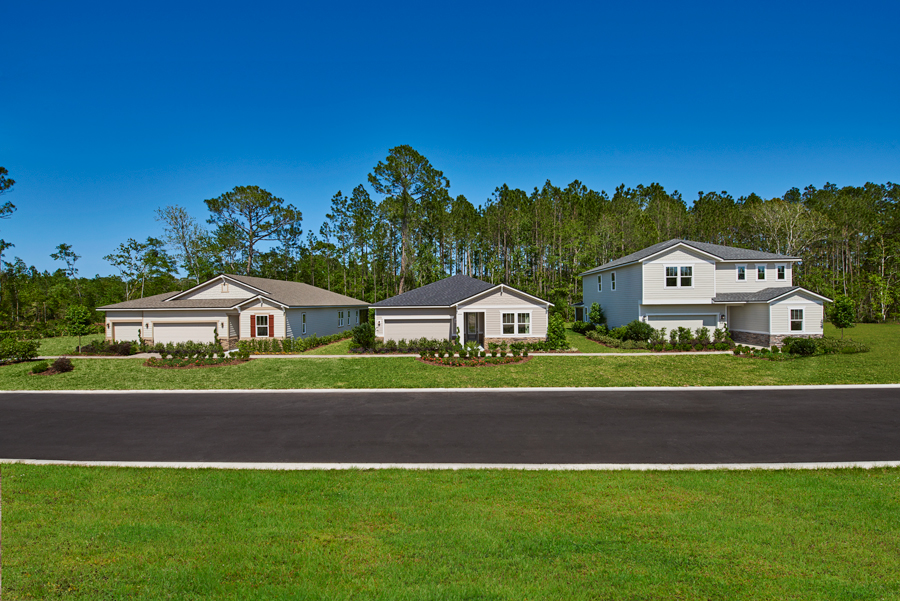New homes at Woodbridge in Jacksonville