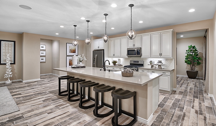 Kitchen of the Julia plan in Marisol at Summerly in California