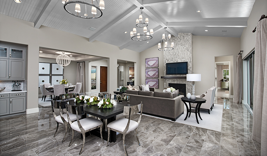 Family room of the Rocco plan in Stirling Manor