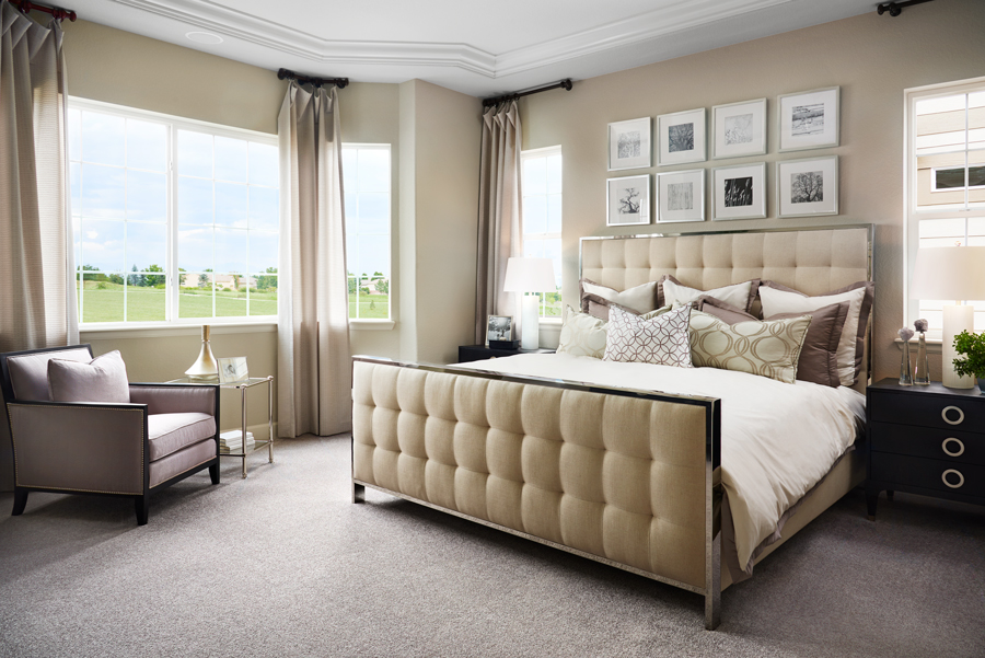 Master bedroom of the Daniel plan