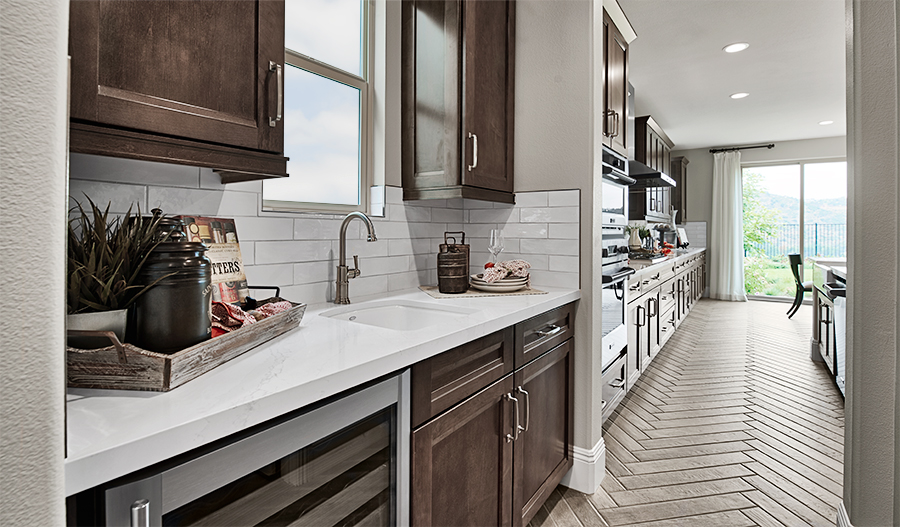 Kitchen of the Simone plan in Promontory At Horse Creek in SCA