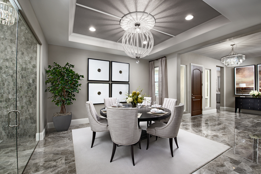 Dining room of the Rocco plan in Stirling Manor at Highland Hills