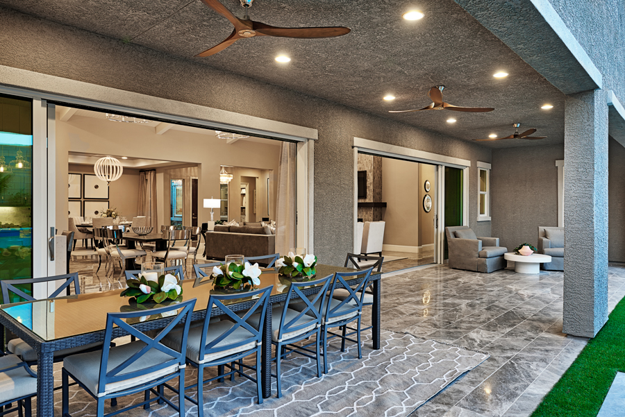 Patio of the Rocco plan in Stirling Manor at Highland Hills in Las Vegas