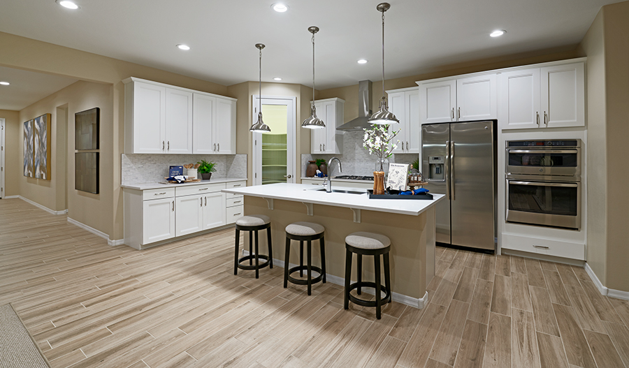 Kitchen of the Augusta plan in Greer Ranch in Phoenix