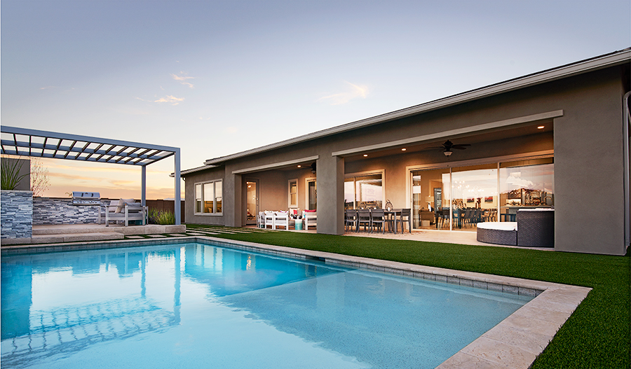 Pool of the Rocco plan in Eastmark in PHX