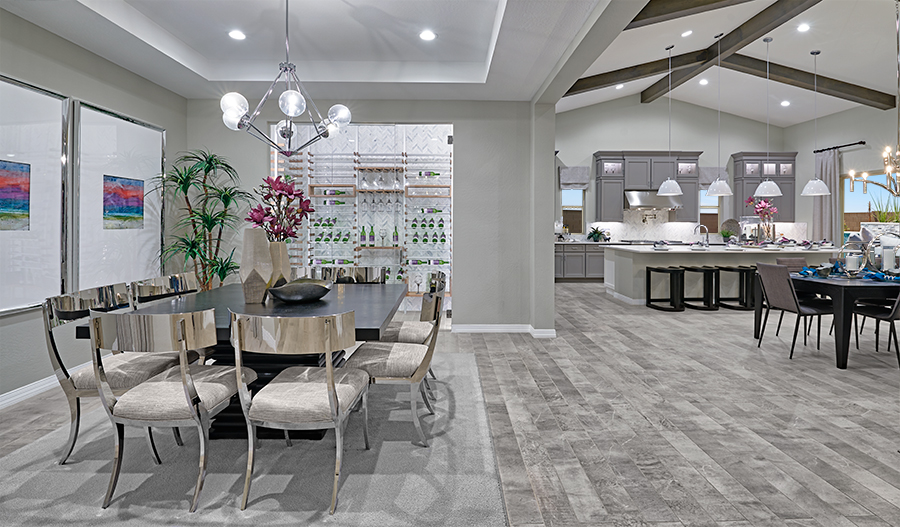 Dining room and kitchen of the Rocco plan in Estates At Eastmark