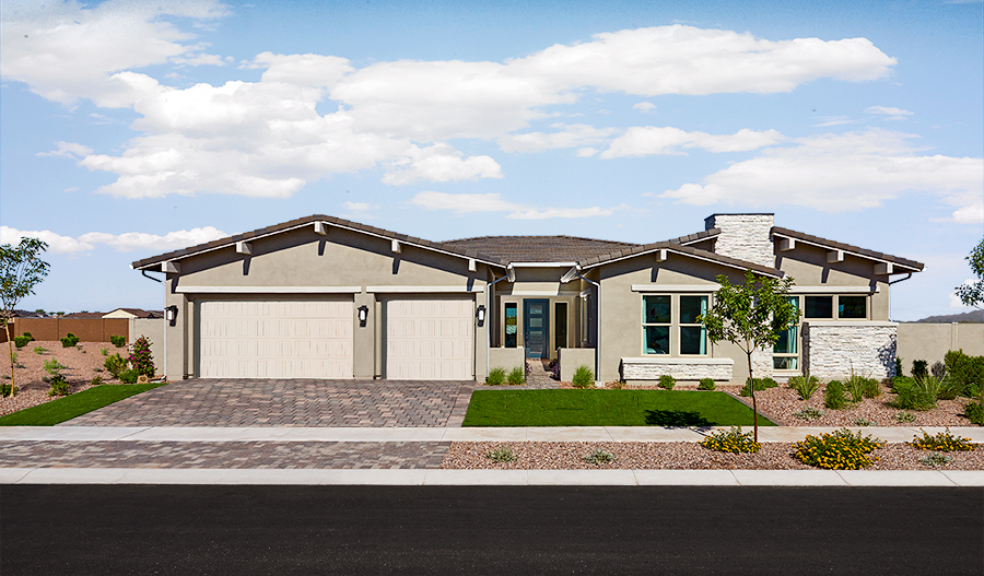 Exterior of the Rocco plan in Eastmark in PHX